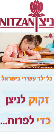 ניצן - אגודה לקידום לקויי למידה הסתגלות  ותפקוד - לימודי אבחון דידקטי - לימודי הוראה מתקנת