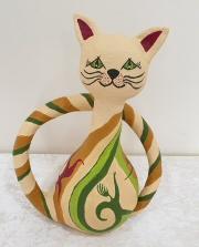 חתול - עיסת נייר  - גלית אייל