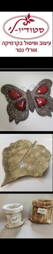 סטודיו-לי - אורלי גטר - עיצוב ופיסול בקרמיקה - קורסים לגימלאים - סדנאות קרמיקה