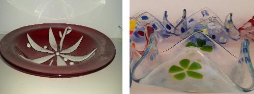 סטודיו עיצובים בזכוכית - מחזיקי מפיות וקערת זכוכית